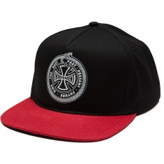 Independent Past Present Future Snapback Hat - Black/Cardinal