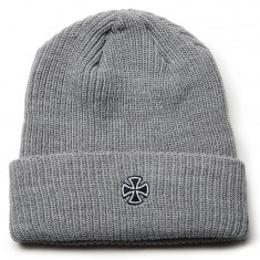 Independent Cross Ribbed Beanie - Heather Grey
