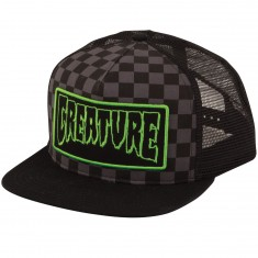 Creature Skateboards Patch Trucker Hat - Black Checker