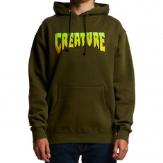 Creature Logo Pullover Hoodie - Army Green