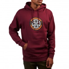 Independent Combo T/C Pullover Hooded Sweatshirt - Maroon
