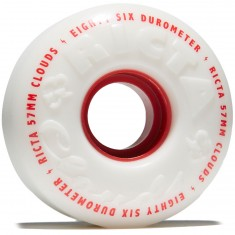 Ricta Clouds 86a Skateboard Wheels - White - 57mm