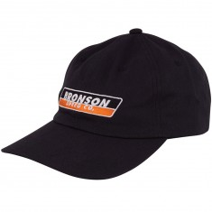 Bronson Speed Co Strip 6 Panel Adjustable Hat - Black