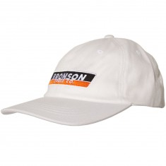 Bronson Speed Co Strip 6 Panel Adjustable Hat - White