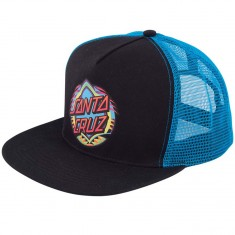 Santa Cruz Neon Dot Trucker Hat - Black/Blue