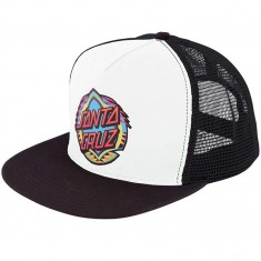 Santa Cruz Neon Dot Trucker Hat - White/Black