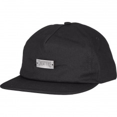 Creature Black Metal Snapback Hat - Black