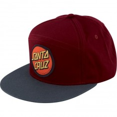 Santa Cruz Dot Snapback Hat - Maroon/Charcoal
