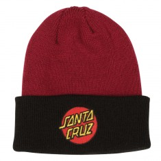 Santa Cruz Classic Dot Beanie - Burgundy/Black