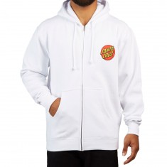 Santa Cruz Classic Dot Zip Up Hoodie - White