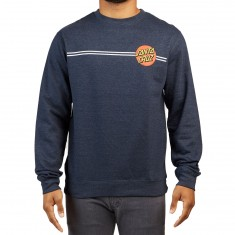 Santa Cruz Classic Dot Crew Neck Hoodie - Navy Heather