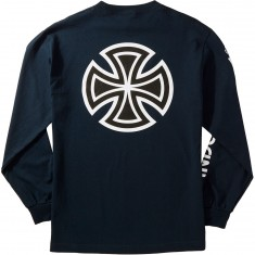 Independent Bar Cross Sleeve Longsleeve T-Shirt - Navy