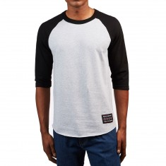 Independent Hustle 3/4 Sleeve Raglan T-Shirt - Athletic Heather/Black