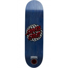 Santa Cruz Borden Check Waste Dot Pro P2 Skateboard Deck - 8.5