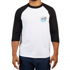 Santa Cruz Opus Fade 3/4 Sleeve Raglan T-Shirt - White/Black