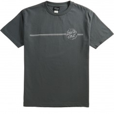 Santa Cruz Pinstripe Dot T-Shirt - Charcoal