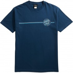 Santa Cruz Pinstripe Dot T-Shirt - Harbor Blue