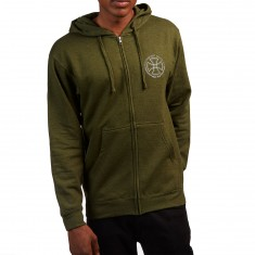 Independent Rails Zip Hooded Sweatshirt - Army Heather
