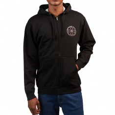 Independent Rails Zip Hooded Sweatshirt - Black