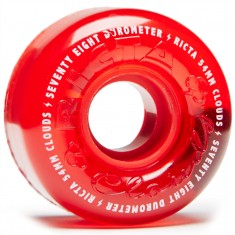 Ricta Crystal Clouds 78a Skateboard Wheels - Red - 54mm