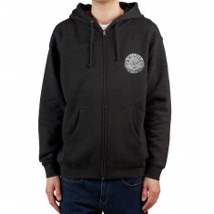 Santa Cruz Dressen Black Roses Zip Up Hoodie - Charcoal Heather