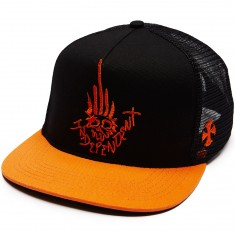Independent Jessee Man Club Trucker Hat - Black/Orange