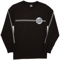 Santa Cruz Other Dot Stipes Longsleeve T-Shirt - Black/Silver