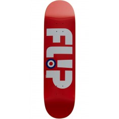 Flip Team Modyssey Logo Team Skateboard Deck - Red - 8.13