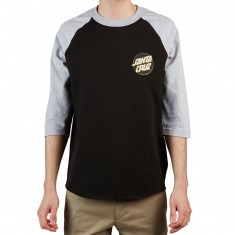 Santa Cruz Other Dot 3/4 Sleeve Raglan T-Shirt - Black/Athletic Heather/Black/Gold
