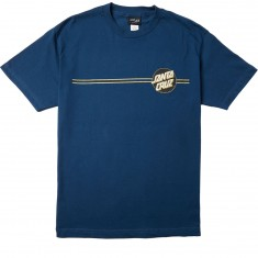 Santa Cruz Other Dot T-Shirt - Harbor Blue/Black/Gold