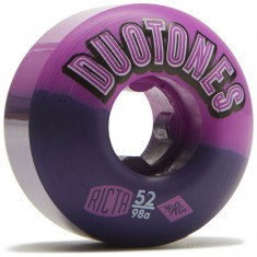 Ricta Duo Tones Purple Black 98a Skateboard Wheels - 52mm