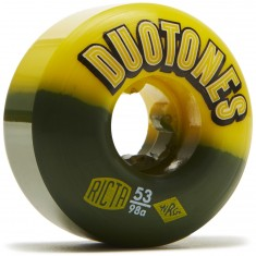 Ricta Duo Tones Yellow Black 98a Skateboard Wheels - 53mm