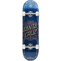 Santa Cruz Pinstripe Dot Hard Rock Maple Skateboard Complete - 8.25