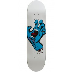 Santa Cruz Minimal Hand Team Skateboard Deck - 8.25 - White