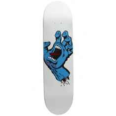 Santa Cruz Minimal Hand Team Skateboard Deck - 8.0 - White