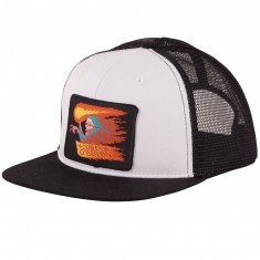 Santa Cruz Obrien Reaper Patch Trucker Hat - White/Black