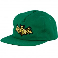 Creature Skateboards Batty Snapback Hat - Dark Green