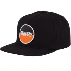 Bronson Speed Co Spot Logo Snapback Hat - Black