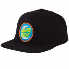 Santa Cruz Moon Dot Badge Snapback Hat - Black