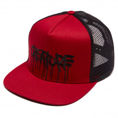 Creature Skateboards Blood Trucker Hat - Cardinal/ Black