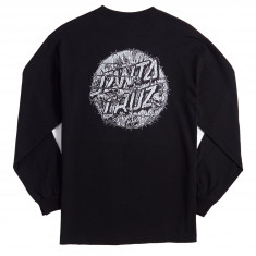 Santa Cruz Abyss Dot Long Sleeve T-Shirt - Black