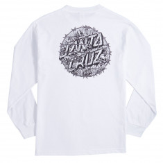 Santa Cruz Abyss Dot Long Sleeve T-Shirt - White