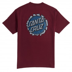 Santa Cruz Shredded Dot T-Shirt - Burgundy