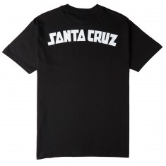 Santa Cruz Arch Strip T-Shirt - Black