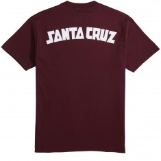 Santa Cruz Arch Strip T-Shirt - Burgundy