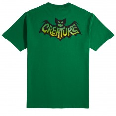Creature Skateboards Batty T-Shirt - Kelly Green