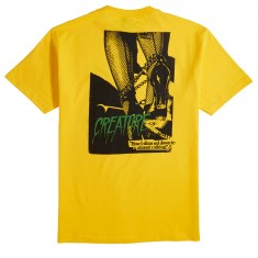 Creature Skateboards Nothing T-Shirt - Yellow