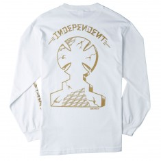 Independent Skateboard Trucks Dressen Monument Long Sleeve T-Shirt - White