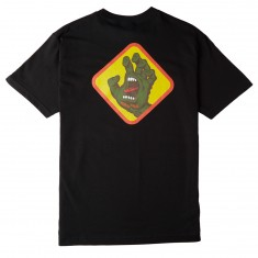 Santa Cruz Screaming Hand Badge T-Shirt - Black