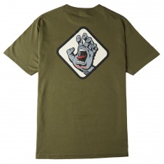 Santa Cruz Screaming Hand Badge T-Shirt - Military Green